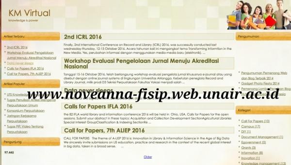 Memanfaatkan fasilitas blog dari Unair